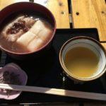 残雪の高尾山 細田屋でおしるこ~冬そばキャンペーンは栄茶屋で